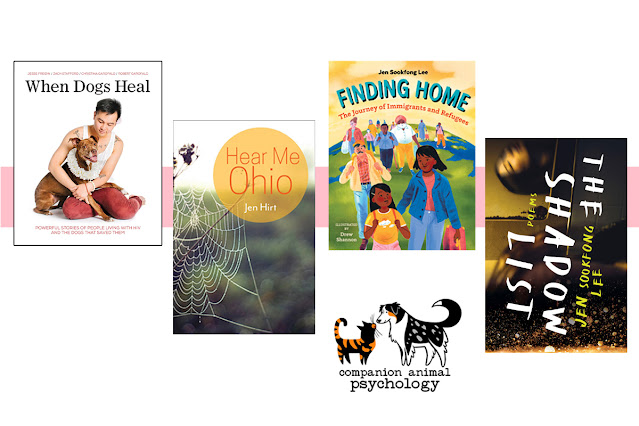 The covers of four books featured in Companion Animal Psychology over the last month