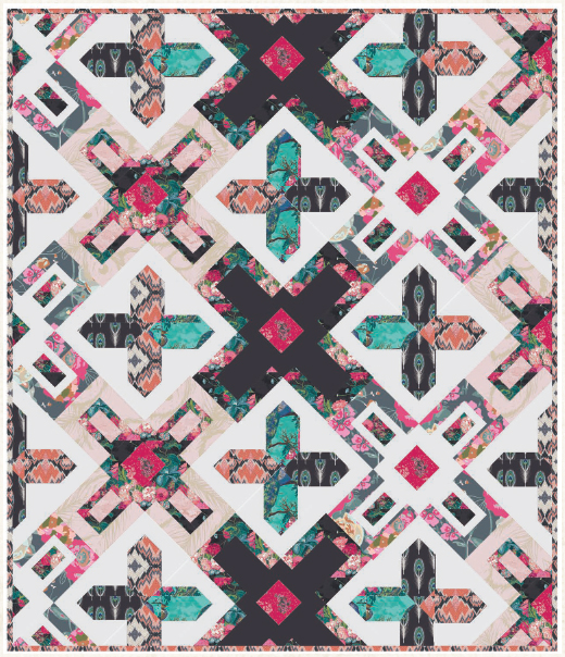 Possibilities Quilt designed by Katarina Roccella for Live art gallery fabrics, featuring Decadence Collection