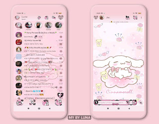 Cute Theme For YOWhatsApp & GB WhatsApp By Luna