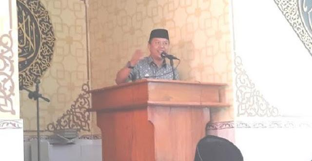 Tausiah Di Masjid Ali Marjan, MBA Ajak Masyarakat Ikut Memakmurkan Masjid