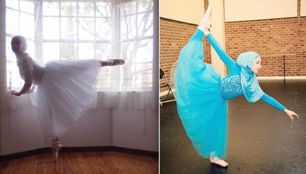 أول راقصة باليه محجبة في العالم تكتسح «السوشيال ميديا»