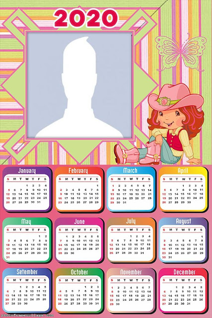 Strawberry Shortcake: Free Printable 2020 Calendar.