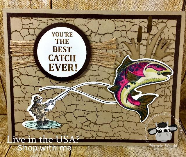 Card, Best Catch, Masculine, Fish, Valentine