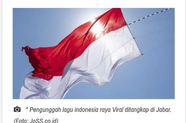Pengunggah Konten Parodi Indonesia Raya Akhirnya Ditangkap di Jabar
