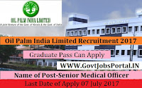 Oil Palm India Limited Recruitment 2017– Senior Medical Officer