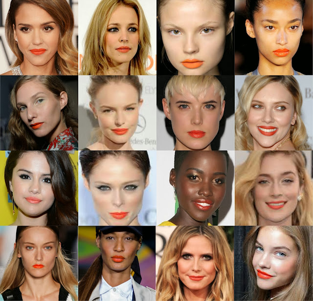 Celeb - Orange lipstick - Make up - choosing lipstick - how to - orange lip