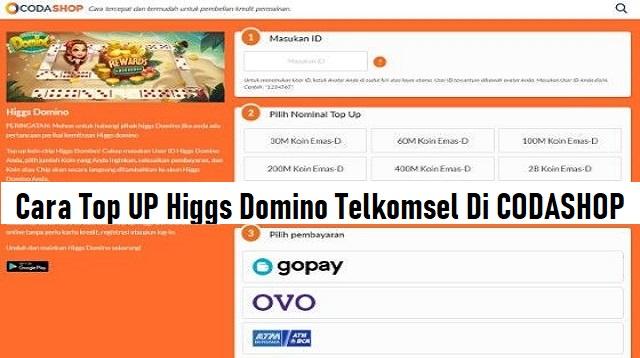 Cara Top UP Higgs Domino Telkomsel