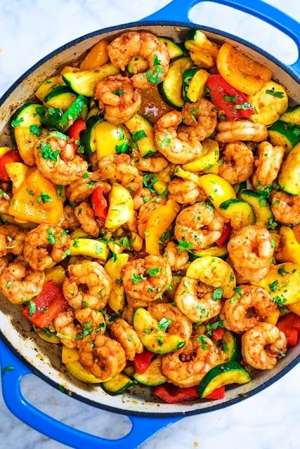 Cajun Shrimp with Vegetables - 2