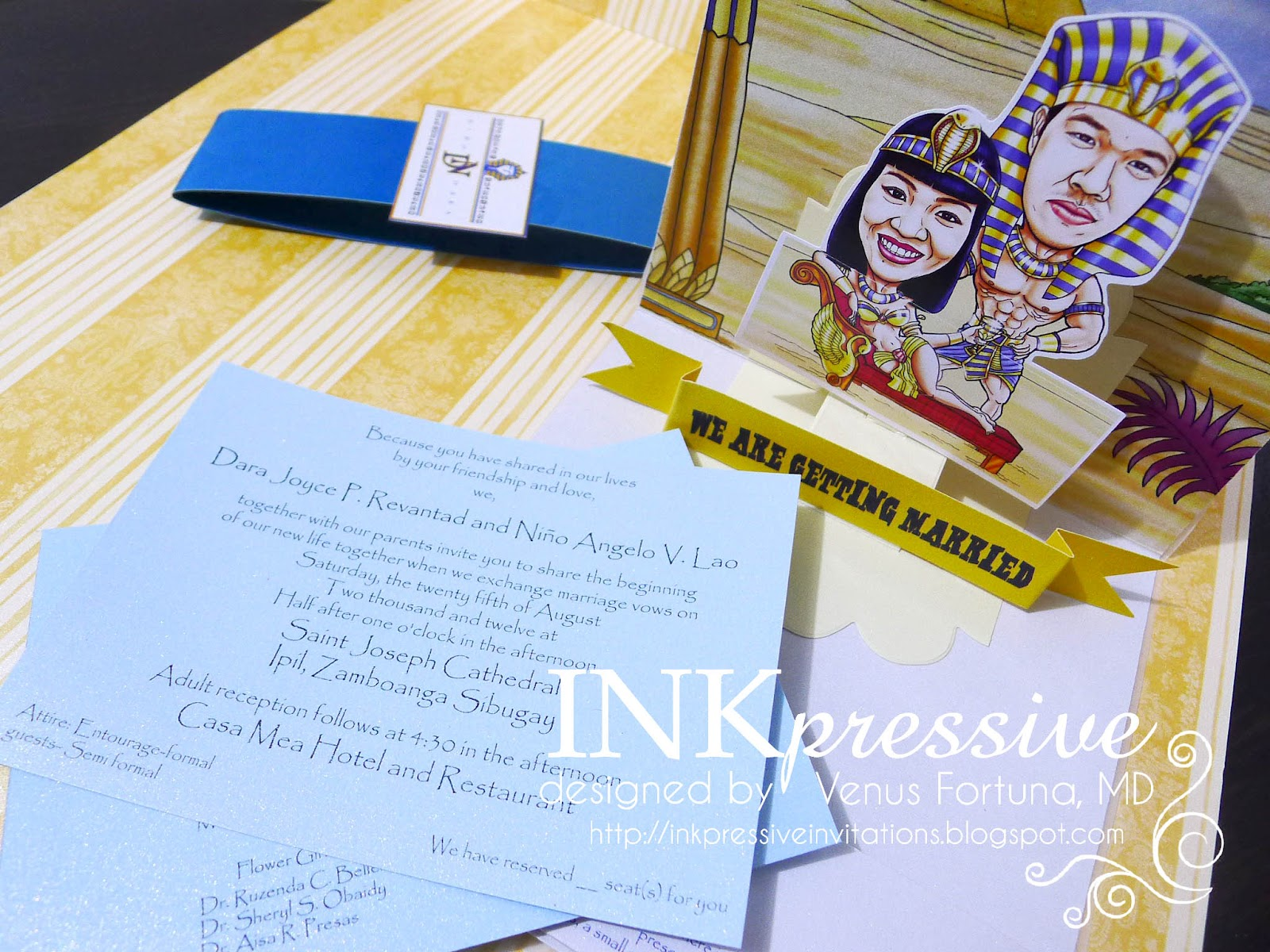Up Themed Wedding Invitations: Egyptian Themed Wedding With Pop Up