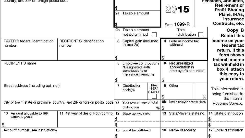 Form 1099 R