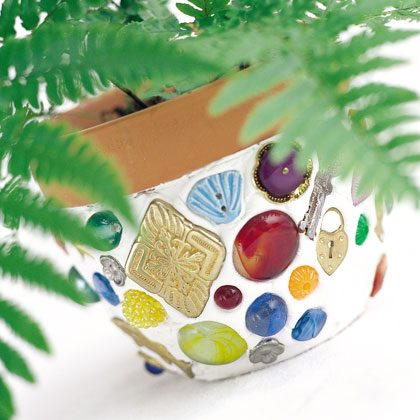 Craft: Mosaic Flowerpots