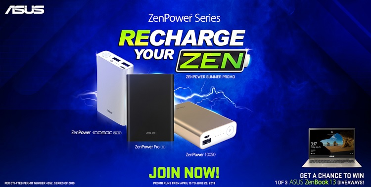 Get a Chance to Win ASUS ZenBook 13 with Recharge Your Zen Promo