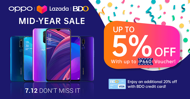 OPPO joins Lazada's mid-year, enjoy up to 27.5 percent off on select phones