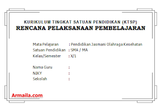 Download RPP KTSP Penjas Kelas X SMA Beserta Silabus