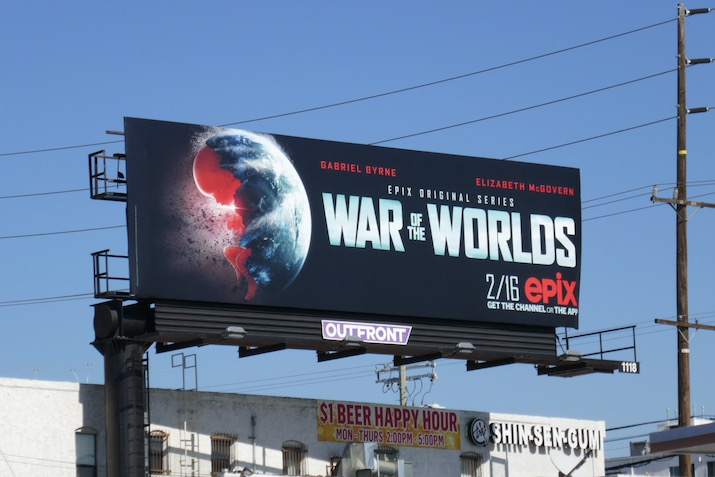 War of the Worlds Epix series billboard