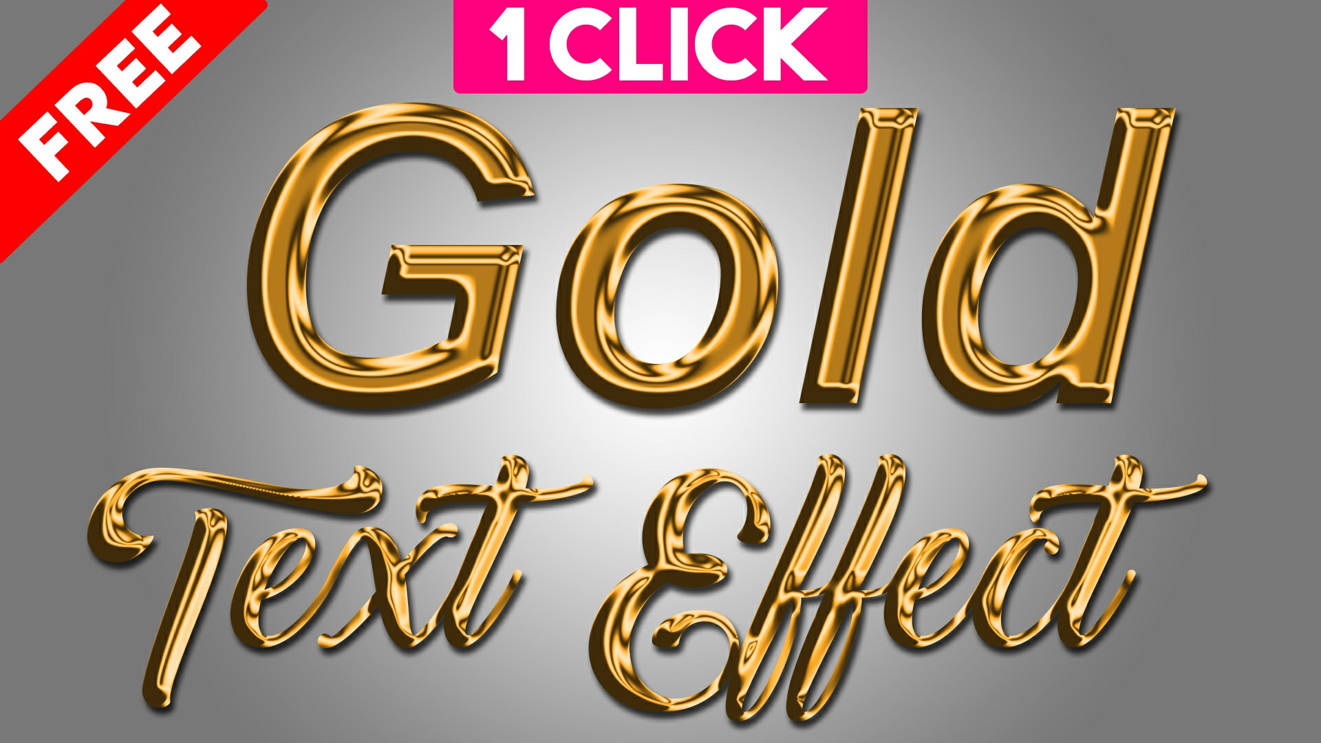3d gold text effects actions