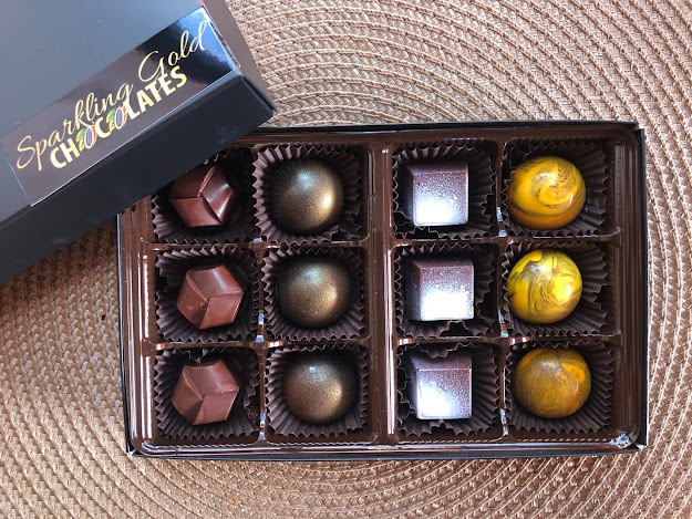 For the love of chocolate! These Sparkling Gold chocolates are just what the doctor ordered!