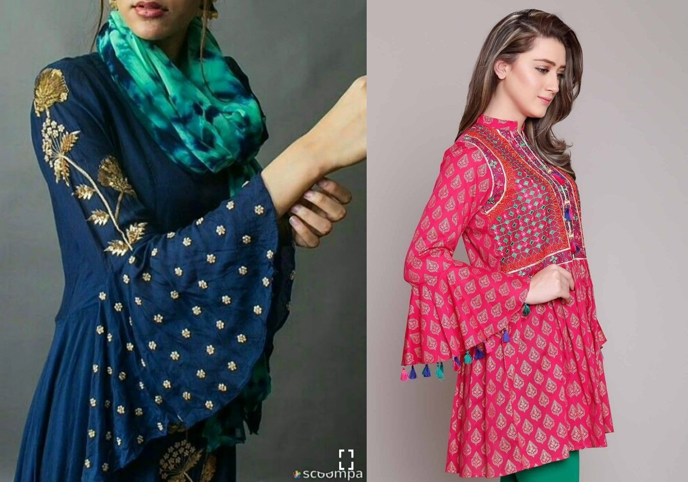 109b8edfd13e70 50 Latest sleeves design for kurti to try in 2019