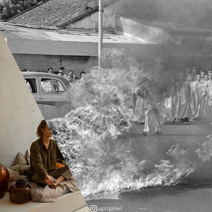 The artist Ugurgallen challenges the world with his powerful photomontages