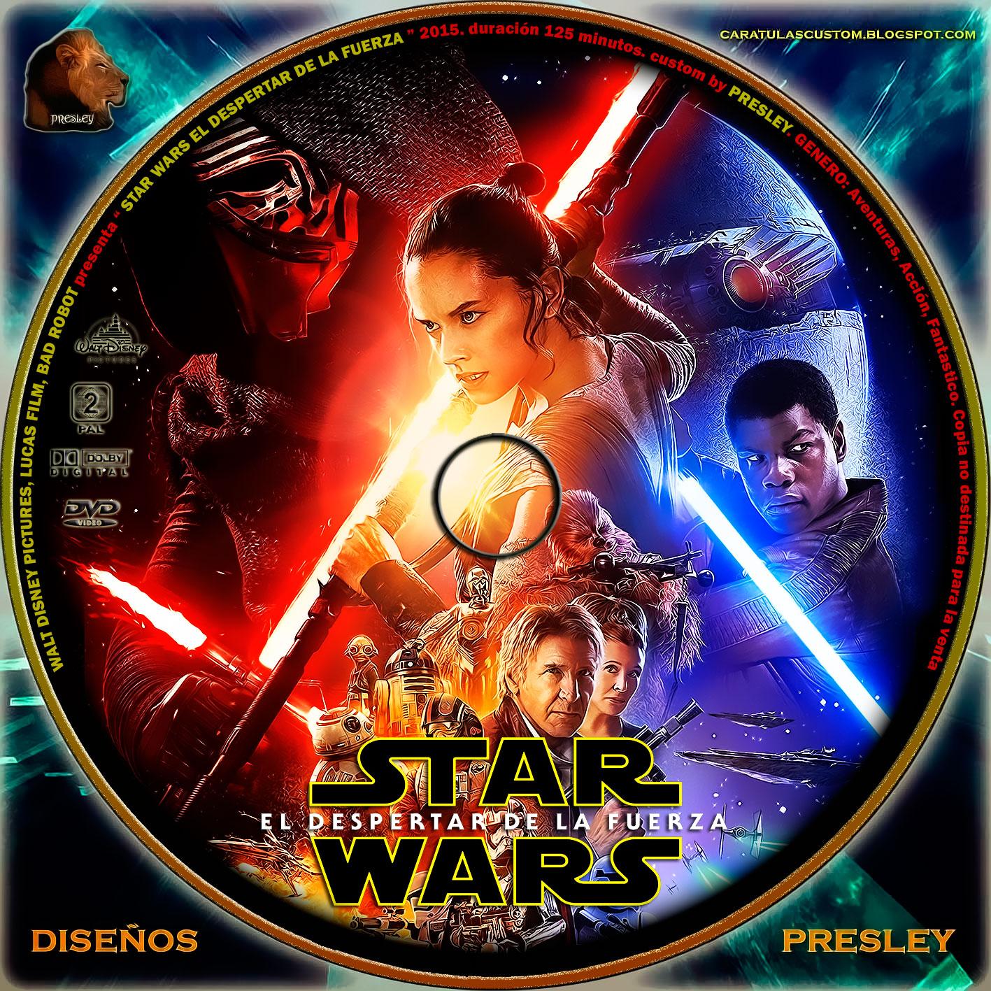 Star Wars El Despertar De La Fuerza Doblada: CARATULAS CUSTON: STAR WARS EL DESPERTAR DE LA FUERZA