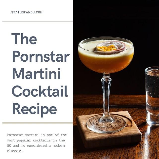 The Pornstar Martini Cocktail Recipe