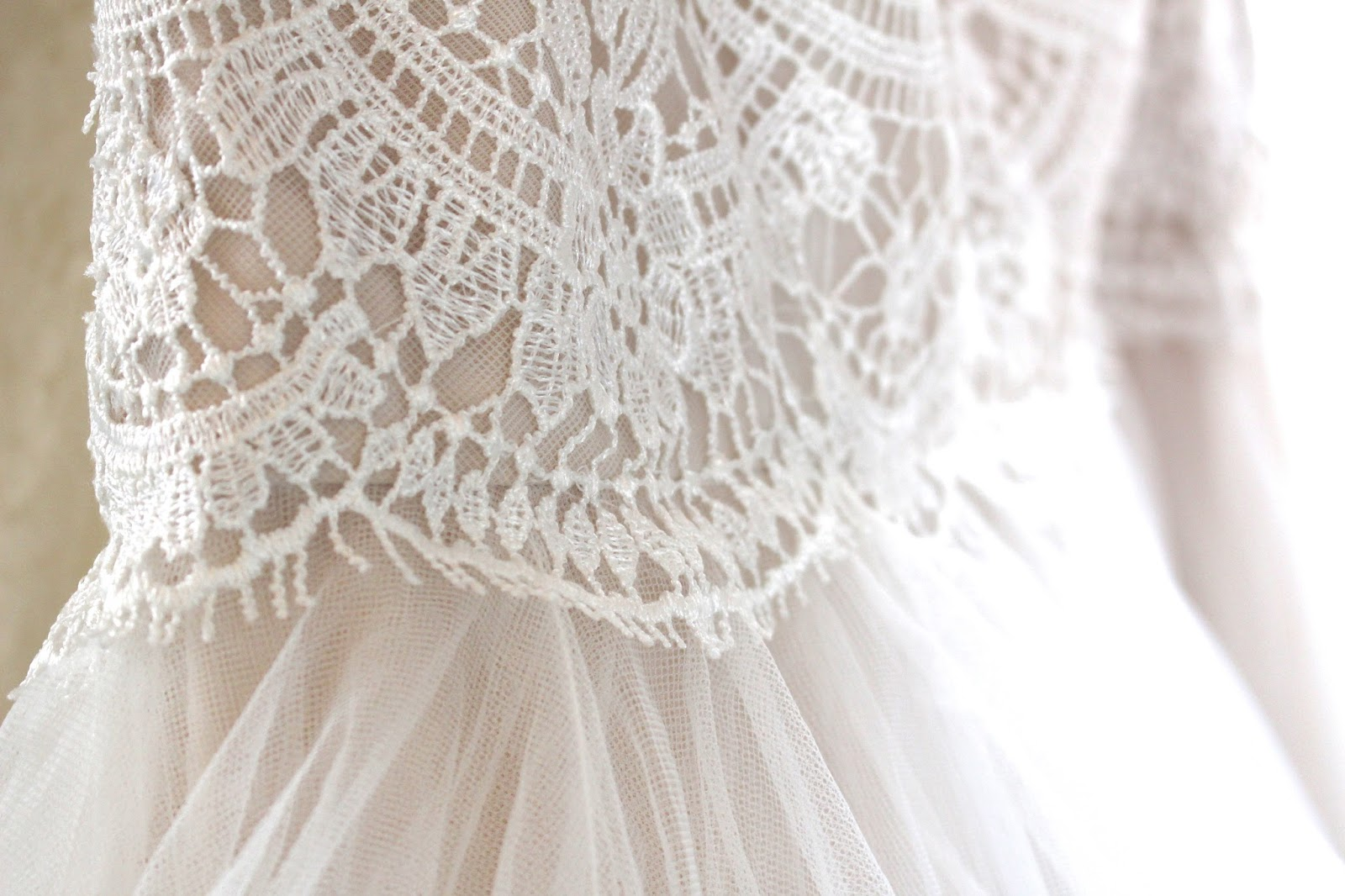 bridal gown close up shot