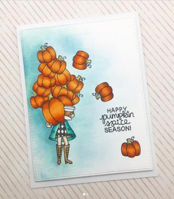 Happy pumpkin spice season by Claire L. features Pumpkin Latte by Newton's Nook Designs; #newtonsnook