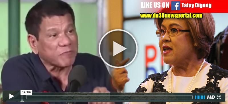 """WATCH: Duterte To De Lima """"'Hoy De Lima, Makinig ka! Putangina ka!'"""