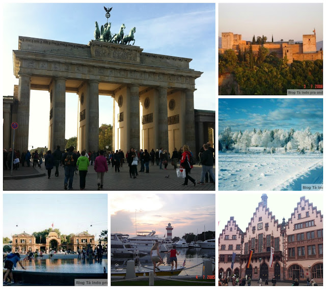 Berlim, Granada, interior da Suécia, Frankfurt, Copenhagen, Hilton Head Island