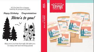 March 2021 Paper Pumpkin: Here's to You stamp set case insert #paperpumpkin