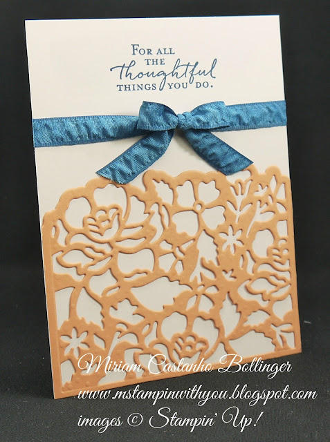 Miriam Castanho-Bollinger, #mstampinwithyou, stampin up, demonstrator, dsc, anniversary card, floral phrases stamp set, Detailed Floral Thinlits, big shot, su