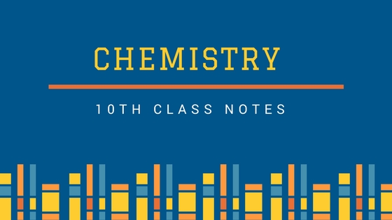 10th Class Chemistry Notes for Punjab Board (Carvan Book