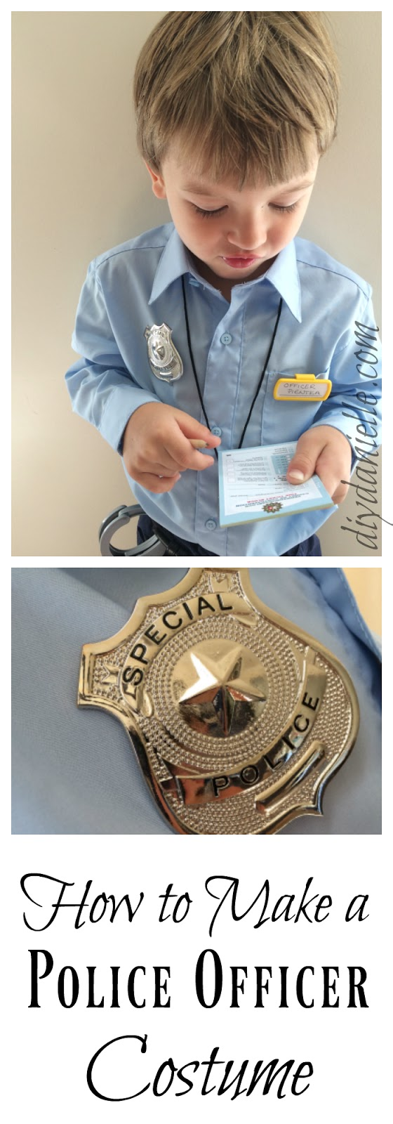 easy diy police costume for kids diy danielle
