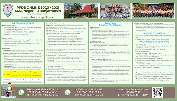 INFORMASI PPDB 2020 SMA Negeri 10 Banjarmasin