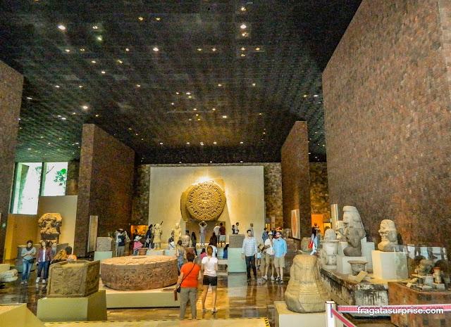 Sala dedicada à Cultura Asteca, Museu Nacional de Antropologia do México