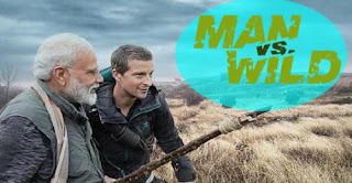 "Prime Minister Narendra Modi in ""Man vs Wild"" with Bear Grylls"