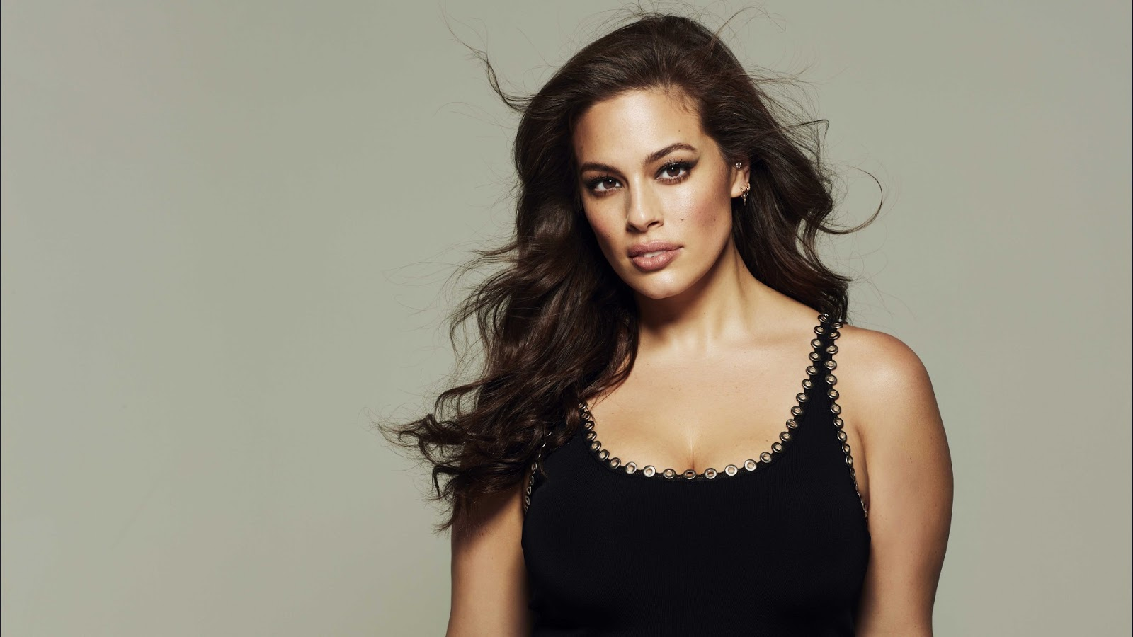 Ashley Graham Black Top HD Wallpaper
