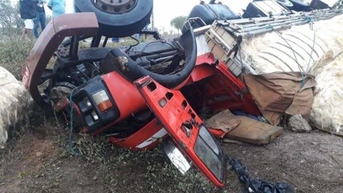 Motorista morre em acidente com caminhão na região de Capim Grosso