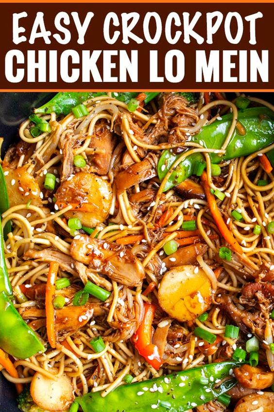 Delicious Chicken Lo Mein