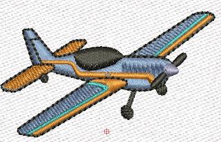 pequeña avioneta en formato emb