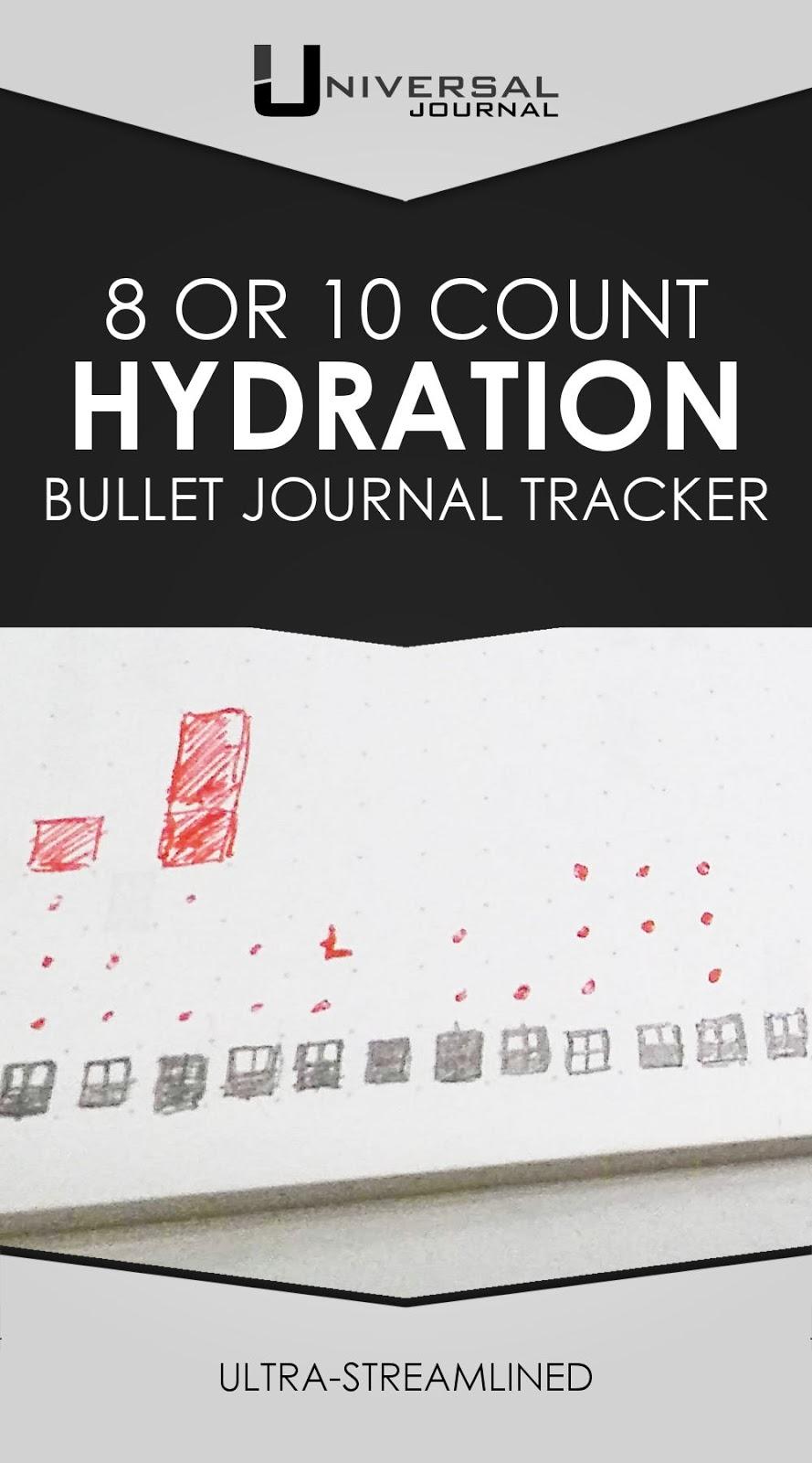 bullet journal water hydration tracker