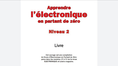 Livre Apprendre l'électronique en partant de zéro Niveau 2
