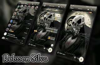 Skull Night Theme For YOWhatsApp & Fouad WhatsApp By Robsson