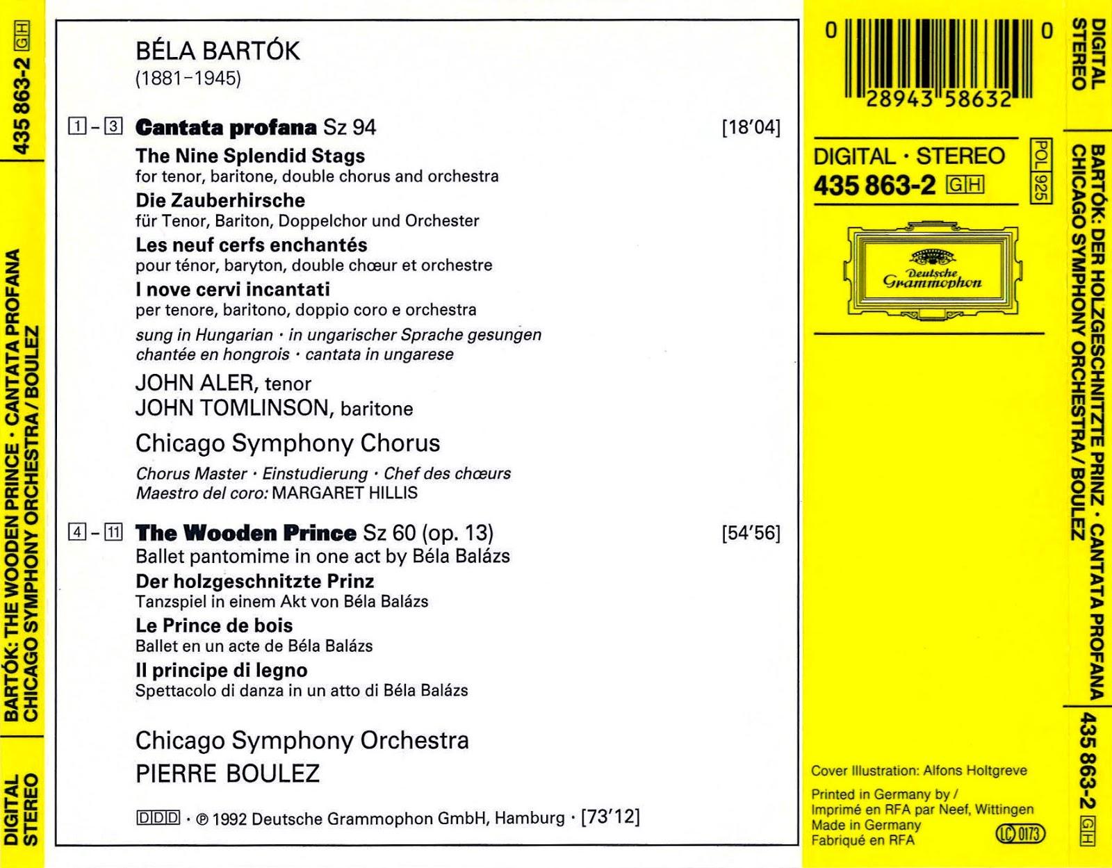 Cd Deutsche Grammophon Cat    Studio Recording