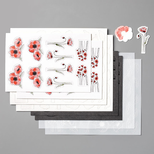 Peaceful Poppies ElementsStampin Up