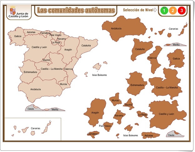 """""""Las Comunidades Autónomas"""" (Juego de Ciencias Sociales de Primaria)"""