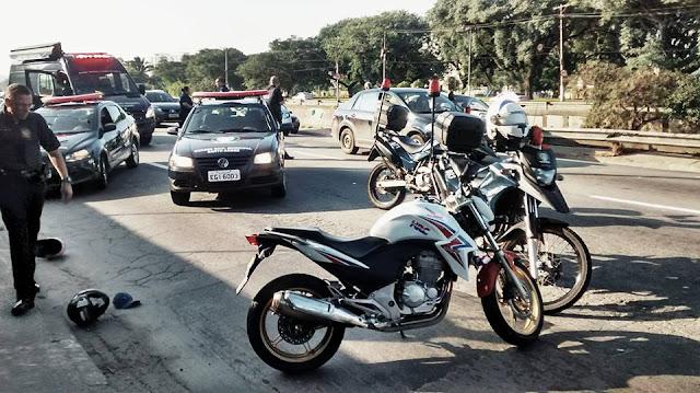 SANTO ANDRÉ - Após perseguição, ROMO apreende dois menores em moto clonada