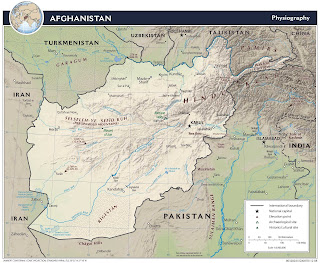 Picture Afghanistan map in 2008