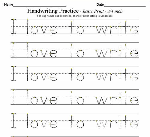 D'Nealian Manuscript Handwriting Worksheets