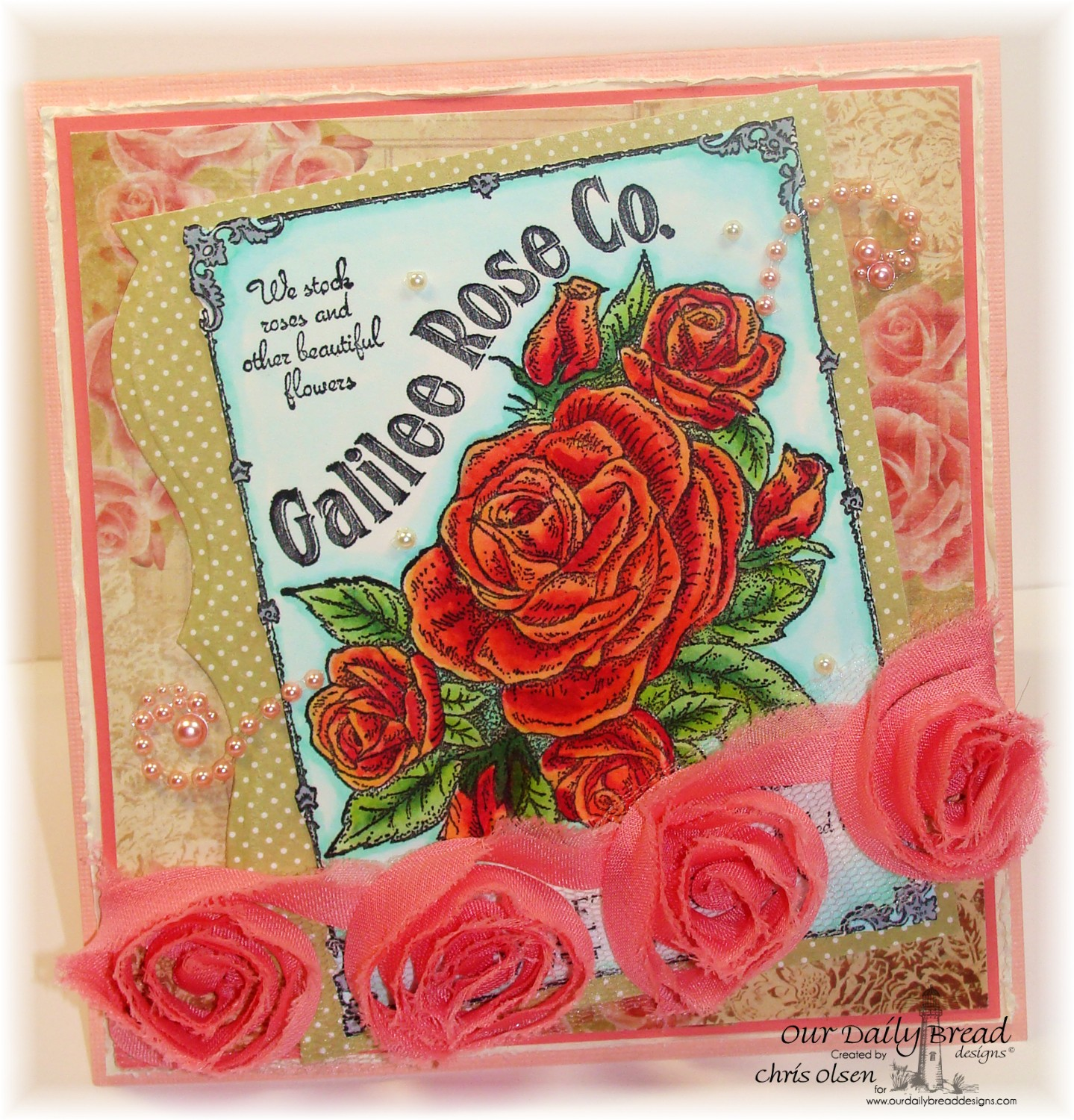 Stamps - Our Daily Bread Designs Galilee Rose Co., ODBD Blushing Rose Paper Collection